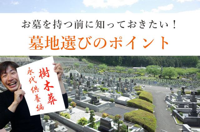 お墓を持つ前に知っておきたい!墓地選びのポイント(樹木葬・永代供養編)