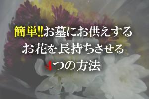 簡単!!お墓にお供えするお花を長持ちさせる4つの方法