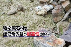 牧之原石材で建てたお墓の耐震性とは!?
