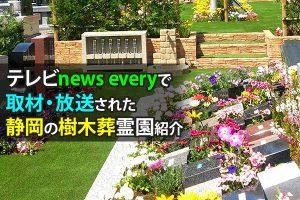 テレビnews everyで取材・放送された静岡の樹木葬霊園紹介
