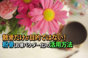 静岡県 遺骨|散骨だけが目的ではない!粉骨(お骨パウダー化)の活用方法