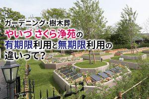 静岡発、「ガーデニング・樹木葬 やいづさくら浄苑」の有期限利用と無期限利用の違いって?