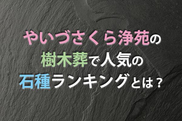静岡県 墓石| やいづさくら浄苑の樹木葬で人気の石種ランキングとは?